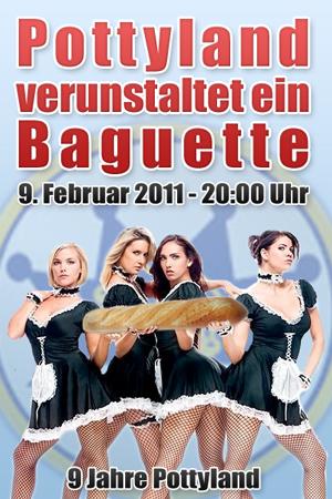 Pottyland verunstaltet ein Baguette - Einladung